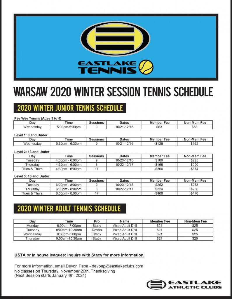 Junior Schedule